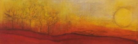 Landschaft rot